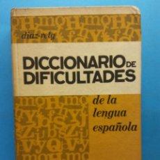 Livros em segunda mão: DICCIONARIO DE DIFICULTADES DE LA LENGUA ESPAÑOLA. DIAZ-RETG. EDITORIAL MARIN. Lote 189743362