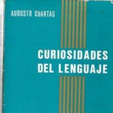 Diccionarios de segunda mano: CURIOSIDADES DEL LENGUAJE. DE AUGUSTO CUARTAS. Lote 189951193
