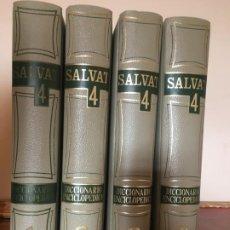 Diccionarios de segunda mano: DICCIONARIO ENCICLOPÉDICO SALVAT DE 4 TOMOS. Lote 190365757
