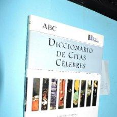 Diccionarios de segunda mano: DICCIONARIO DE CITAS CÉLEBRES. SEÑOR GONZALEZ, LUIS. ED.ESPASA-CALPE. MADRID 1998. Lote 191264326