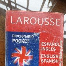 Diccionarios de segunda mano: DICCIONARIO POCKET ESPAÑOL-INGLÉS, INGLÉS-ESPAÑOL, ED. LAROUSSE. Lote 191271505