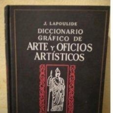 Diccionarios de segunda mano: DICCIONARIO GRAFICO DE ARTE Y OFICIOS ARTISTICOS - AÑO 1963 - J.LAPOULIDE - TOMO III. Lote 191359927