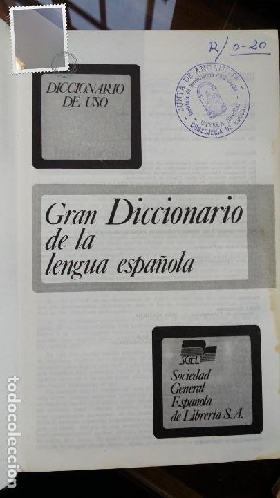 GRAN DICCIONARIO DE LA LENGUA ESPAÑOLA,SGEL 1988 (Libros de Segunda Mano - Diccionarios)