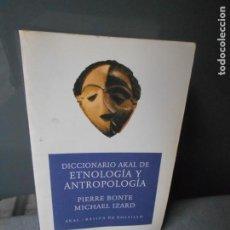 Diccionarios de segunda mano: DICCIONARIO AKAL DE ETNOLOGIA Y ANTROPOLOGIA. Lote 191617080
