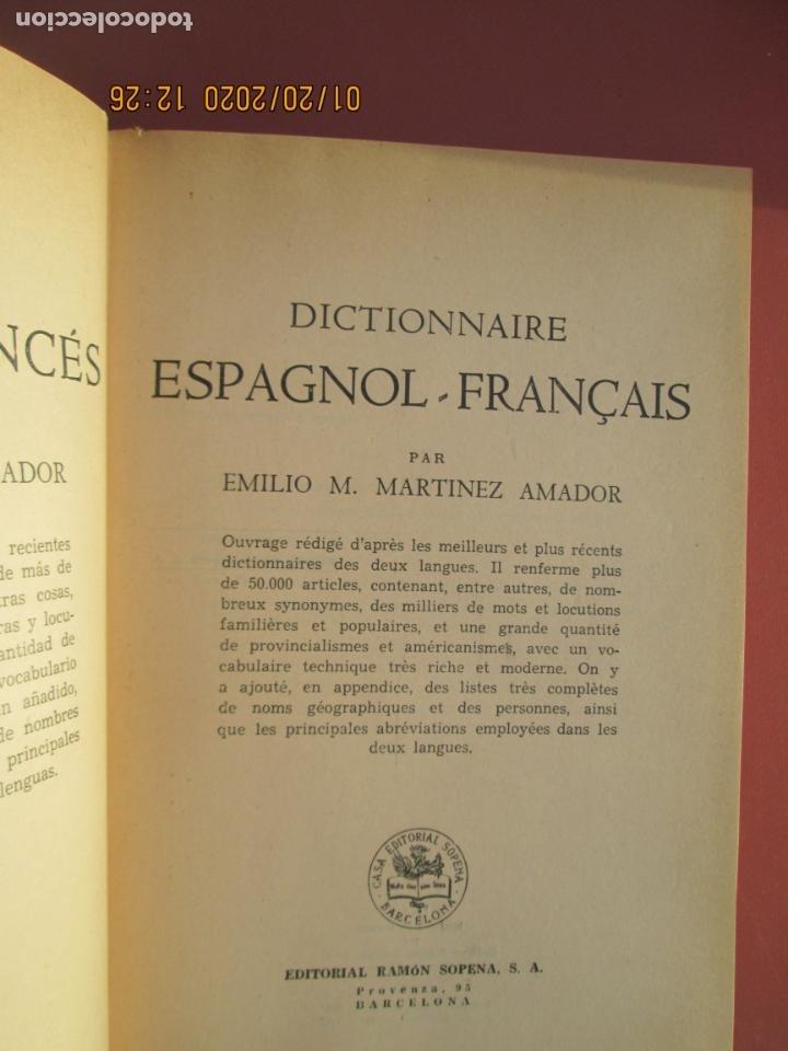 Diccionarios de segunda mano: DICCIONARIO ESPAÑOL-FRANCÉS - EMILIO M. AMADOR - ED. SOPENA 1964. - Foto 2 - 191617356