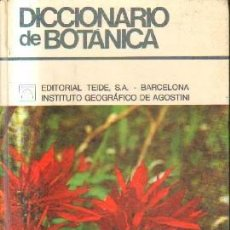 Diccionarios de segunda mano: DICCIONARIO DE BOTÁNICA. A-BOT-090. Lote 191641851