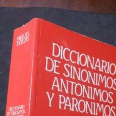 Diccionarios de segunda mano: DICCIONARIO DE SINÓNIMOS, ANTÓNIMOS Y PARÓNIMOS-MIGUEL DOEZIS-LIBSA, 1989. Lote 191679551