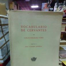 Diccionarios de segunda mano: VOCABULARIO DE CERVANTES. Lote 191680895