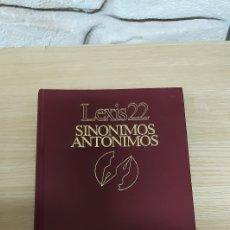 Diccionarios de segunda mano: DICCIONARIO SINONIMOS ANTONIMOS LEXIS22 VOX. Lote 192874721