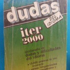 Livros em segunda mão: DUDAS DEL IDIOMA. DICCIONARIO DE DUDAS Y DIFICULTADES DEL IDIOMA. EDITORIAL RAMON SOPENA. Lote 193578376