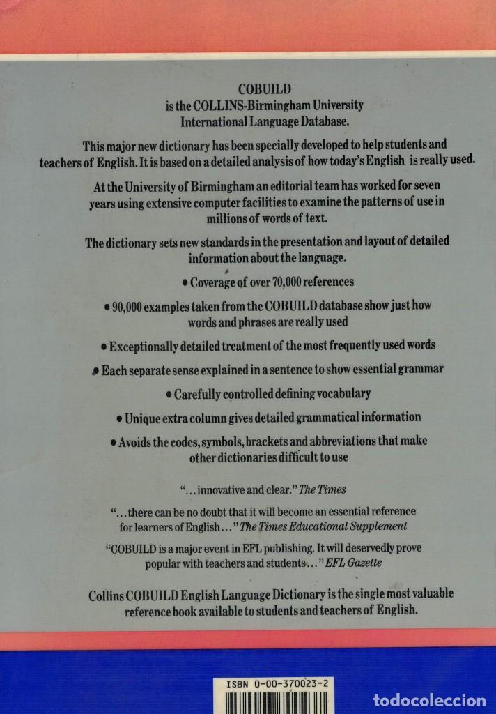 Diccionarios de segunda mano: Collins Cobuild English Language Dictionary. / Diccionario Inglés-Inglés - Foto 2 - 194215386