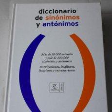Diccionarios de segunda mano: DICCIONARIO DE SINÓNIMOS Y ANTÓNIMOS. VV.AA. Lote 194519532