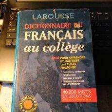 Diccionarios de segunda mano: DICTIONNAIRE DU FRANCAIS AU COLLEGE. LAROUSSE 2001. Lote 194610518