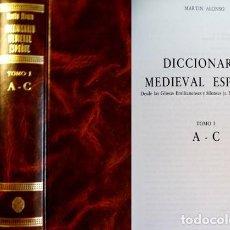 Diccionarios de segunda mano: ALONSO, MARTÍN. DICCIONARIO MEDIEVAL ESPAÑOL. DESDE LAS GLOSAS...(S. X) HASTA EL S. XV. 2 VO. 1986.. Lote 194670475