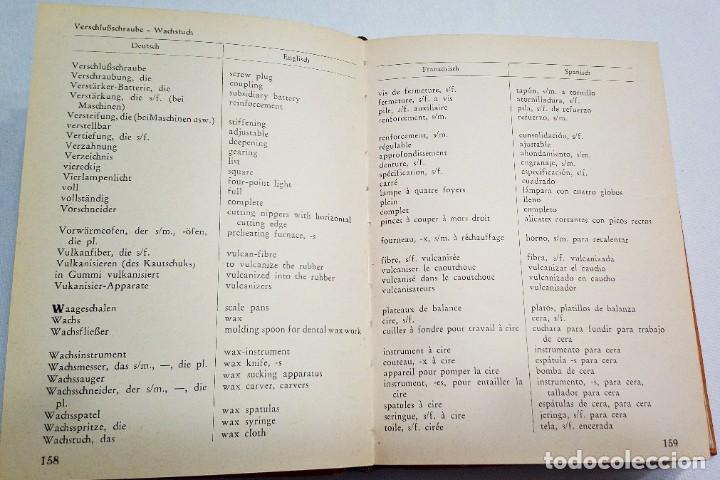 Diccionarios de segunda mano: 1939. DENTAL LEXICON. WÖRTER VERZEICHNIS. DICTIONARY. DICTIONNAIRE. DICCIONARIO PRODUCTOS DENTALES. - Foto 3 - 194859481
