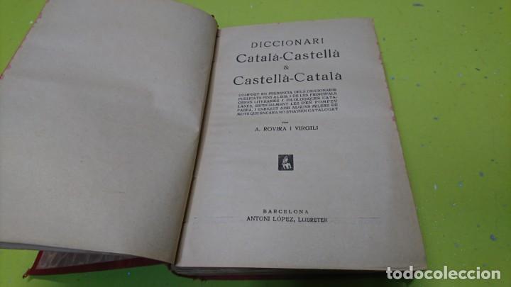 DICCIONARI CÁTALA-CASTELLA CASTELLA-CÁTALA, A. ROVIRA (Libros de Segunda Mano - Diccionarios)