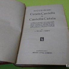 Diccionarios de segunda mano: DICCIONARI CÁTALA-CASTELLA CASTELLA-CÁTALA, A. ROVIRA. Lote 194885495