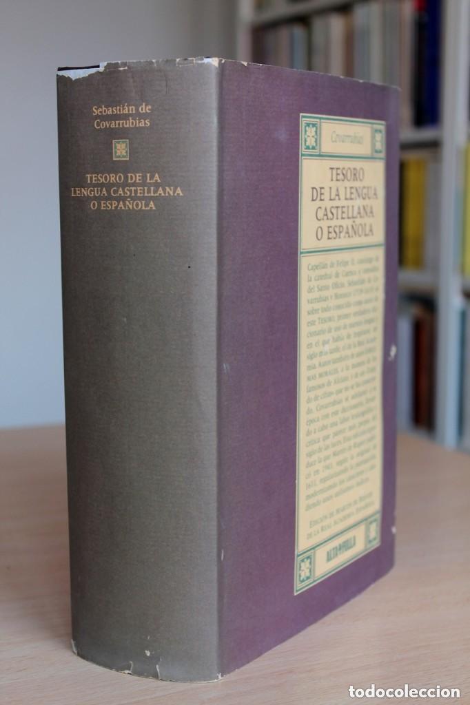 TESORO DE LA LENGUA CASTELLANA O ESPAÑOL DE SEBASTIÁN DE COVARRUBIAS, ED. MARTÍN DE RIQUER (Libros de Segunda Mano - Diccionarios)