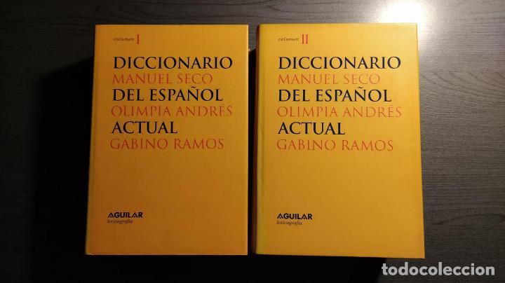 DICCIONARIO DEL ESPAÑOL ACTUAL MANUEL SECO, GABINO RAMOS AGUILAR (Libros de Segunda Mano - Diccionarios)
