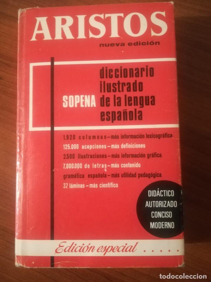 DICCIONARIO ILUSTRADO DE LA LENGUA ESPAÑOLA. ARISTOS. SOPENA. (Libros de Segunda Mano - Diccionarios)
