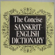 Diccionarios de segunda mano: THE CONCISE SANSKRIT-ENGLISH DICTIONARY. VASUDEO. Lote 194903005