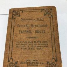 Diccionarios de segunda mano: DICCIONARIOS ITER. PEQUEÑO DICCIONARIO ESPAÑOL-INGLÉS,1940. Lote 194942276
