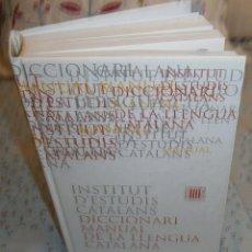 Diccionarios de segunda mano: INSTITUT D'ESTUDIS CATALANS DICCIONARI MANUAL DE LA LLENGUA CATALANA. Lote 194973558