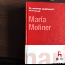 Diccionarios de segunda mano: DICCIONARIO DE USO DEL ESPAÑOL. EDICIÓN ABREVIADA. MARÍA MOLINER. GREDOS. Lote 194982258