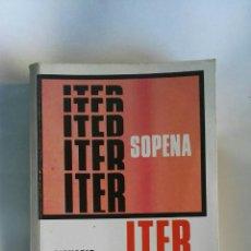 Diccionarios de segunda mano: ITER SOPENA DICCIONARIO ORTOGRÁFICO. Lote 195051436