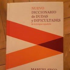 Diccionarios de segunda mano: NUEVO DICCIONARIO DE DUDAS Y DIFICULTADES DE LA LEGUNA ESPAÑOLA. MANUEL SECO. ED. ESPASA. 2011.. Lote 195242586