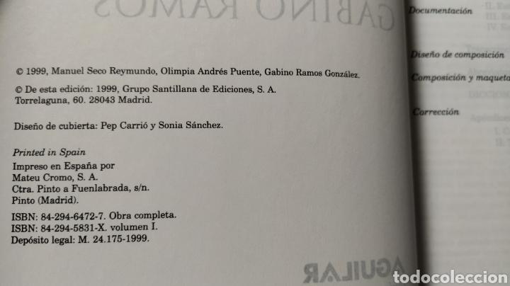 Diccionarios de segunda mano: DICCIONARIO DEL ESPAÑOL ACTUAL MANUEL SECO, GABINO RAMOS Aguilar - Foto 10 - 194898066