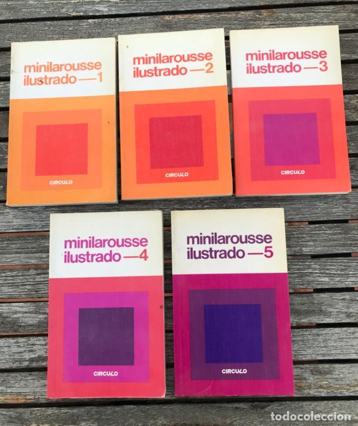 MINILAROUSSE ILUSTRADO, NºS. 1, 2, 3, 4 Y 5. CÍRCULO DE LECTORES, AÑO 1984. VER FOTOS (Libros de Segunda Mano - Diccionarios)