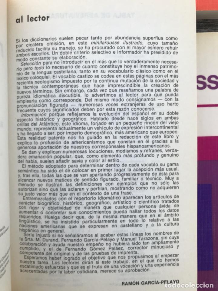 Diccionarios de segunda mano: MINILAROUSSE ILUSTRADO, NºS. 1, 2, 3, 4 Y 5. CÍRCULO DE LECTORES, AÑO 1984. VER FOTOS - Foto 3 - 195328202