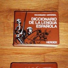 Diccionarios de segunda mano: DICCIONARIO DE LA LENGUA ESPAÑOLA (DICCIONARIO UNIVERSAL HERDER). Lote 195331243
