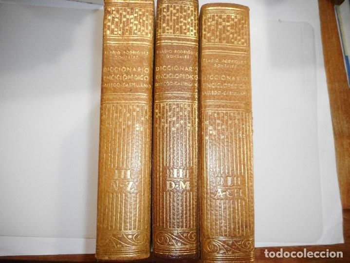 ELADIO RODRÍGUEZ GONZÁLEZ DICCIONARIO ENCICLOPÉDICO GALLEGO -CASTELLANO(3 TOMOS) Y99111T (Libros de Segunda Mano - Diccionarios)