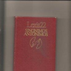 Diccionarios de segunda mano: 1273. SINONIMOS Y ANTONIMOS. Lote 196299275