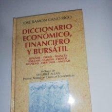 Diccionarios de segunda mano: JOSÉ RAMÓN CANO RICO, DICCIONARIO ECONOMICO , FINANCIERO Y BURSATIL , ESPAÑOL,INGLES,FRANCES. Lote 197498253