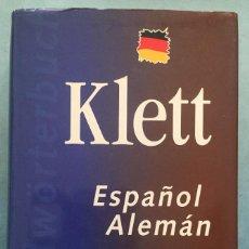 Diccionarios de segunda mano: DICCIONARIO KLETT ESPAÑOL- ALEMAN - VOLUMEN 1 - DICCIONARIO GENERAL - VOX - 1996. Lote 197916743