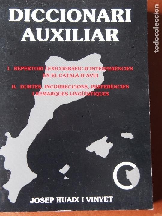JOSEP RUAIX I VINYET - DICCIONARI AUXILIAR (Libros de Segunda Mano - Diccionarios)