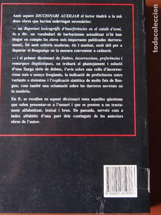 Diccionarios de segunda mano: Josep Ruaix i Vinyet - Diccionari auxiliar - Foto 2 - 197917291