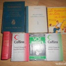 Diccionarios de segunda mano: DICCIONARIOS - ESPAÑOL-FRANCES / ESPAÑOL-INGLES / ESPAÑOL-ITALIANO / ESPAÑOL-ALEMAN / ESPAÑOL-LATINO. Lote 198103635