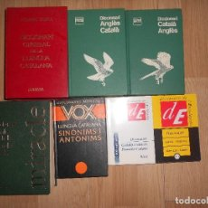 Diccionarios de segunda mano: DICCIONARIS / CATALA-ALEMANY / CATALA-FRANCES / CATALA-ANGLES / CATALA-CASTELLA / LLENGUA CATALANA. Lote 198222403