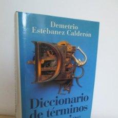 Diccionarios de segunda mano: DICCIONARIO DE TERMINOS LITERARIOS. DEMETRIO ESTEBANEZ CALDERON. EDITORIAL ALIANZA. 1996. Lote 198321255