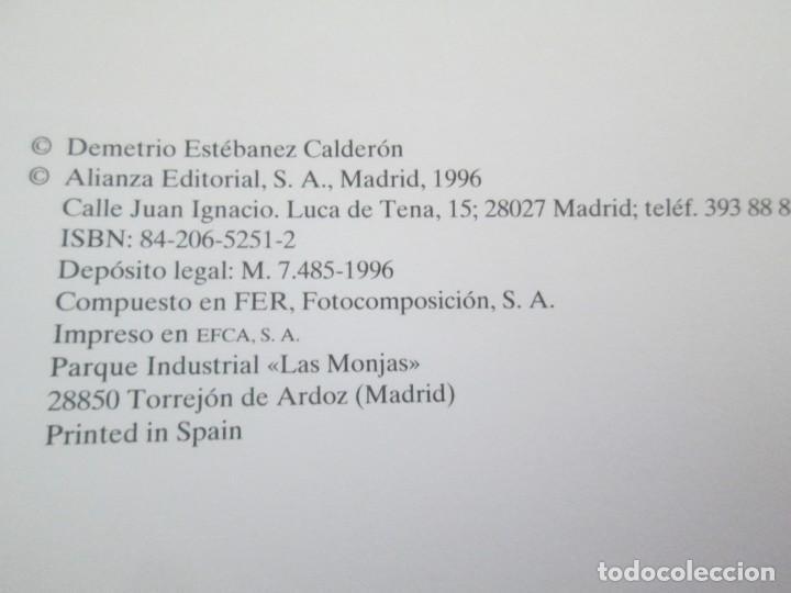 Diccionarios de segunda mano: DICCIONARIO DE TERMINOS LITERARIOS. DEMETRIO ESTEBANEZ CALDERON. EDITORIAL ALIANZA. 1996 - Foto 9 - 198321255
