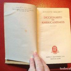 Diccionarios de segunda mano: DICCIONARIO DE AMERICANISMOS POR AUGUSTO MALARET BIBLIOTECA EMECÉ 1946. Lote 198709351