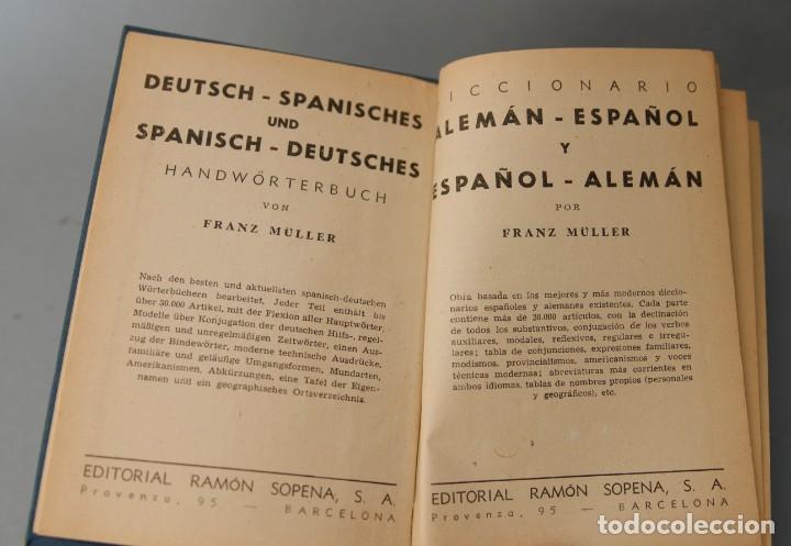 Diccionarios de segunda mano: DICIONARIO ALEMAN - ESPAÑOL Y ESPAÑOL ALEMÁN - FRANZ MULLER EDITORIAL RAMÓN SOPENA 1959 - Foto 4 - 199520528