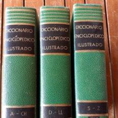 Diccionarios de segunda mano: LOTE DE 3 DICCIONARIOS ENCICLOPÉDICO ILUSTRADO ,AÑO 1965. Lote 200149042