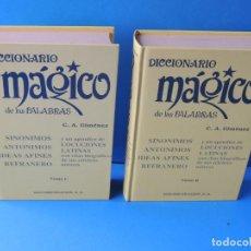Livres d'occasion: DICCIONARIO MÁGICO DE LAS PALABRAS.- GIMENEZ, C.A. Lote 200885375
