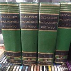 Diccionarios de segunda mano: DICCIONARIO ENCICLOPEDICO ILUSTRADO SOPENA 4 TOMOS 1961 BUEN ESTADO. Lote 202350902