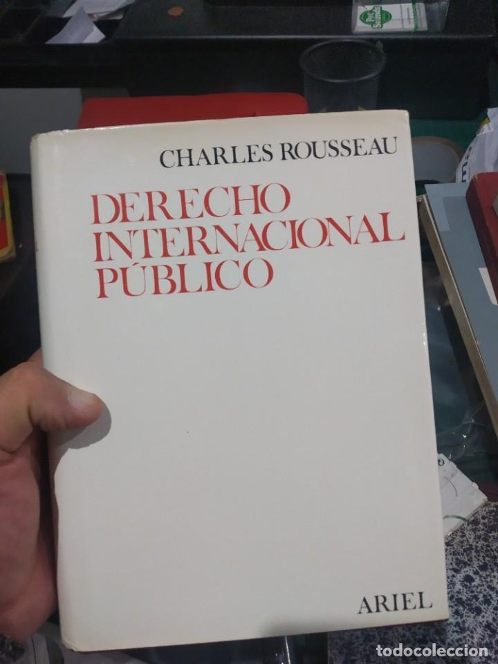 CHARLES ROUSSEAU DERECHO INTERNACIONAL PUBLICO ARIEL 1966 TAPA DURA MUY BUEN ESTADO (Libros de Segunda Mano - Diccionarios)